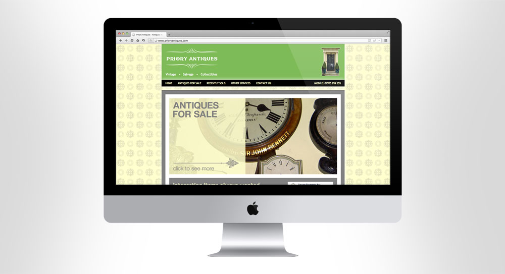Priory Antiques Website 01